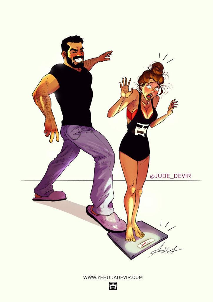 ilustracao de um casal 11