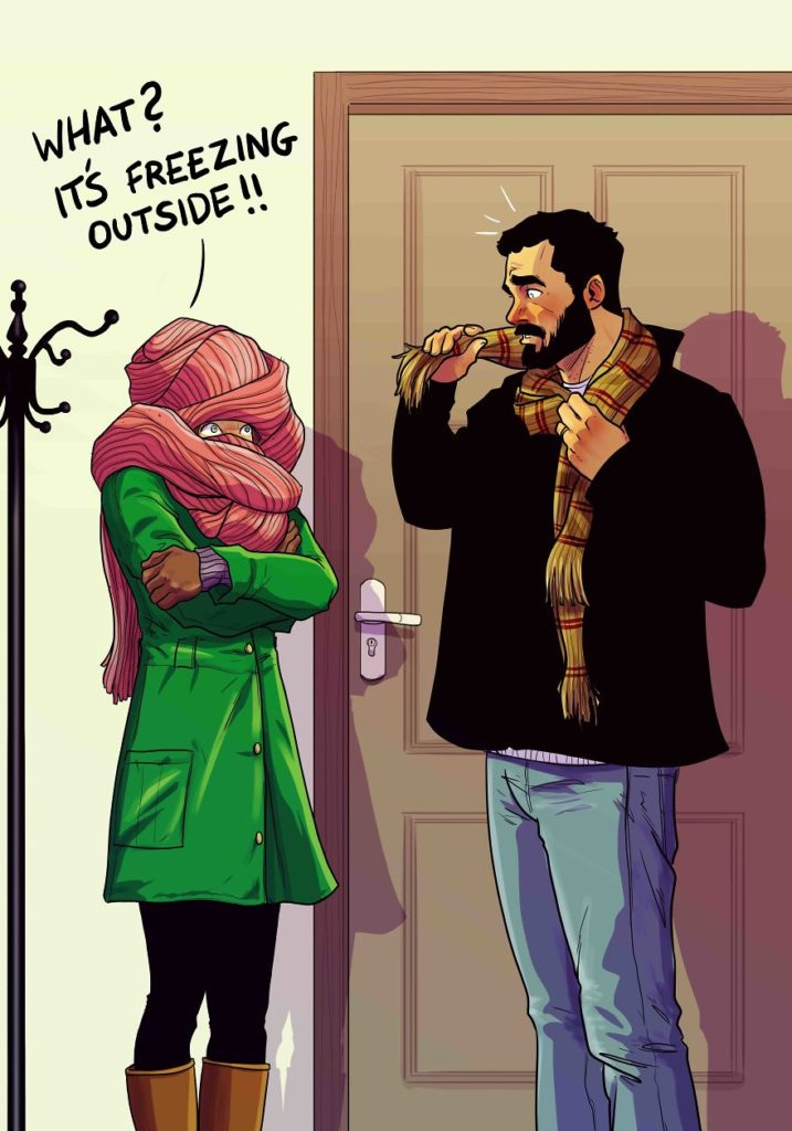 ilustracao de um casal 17