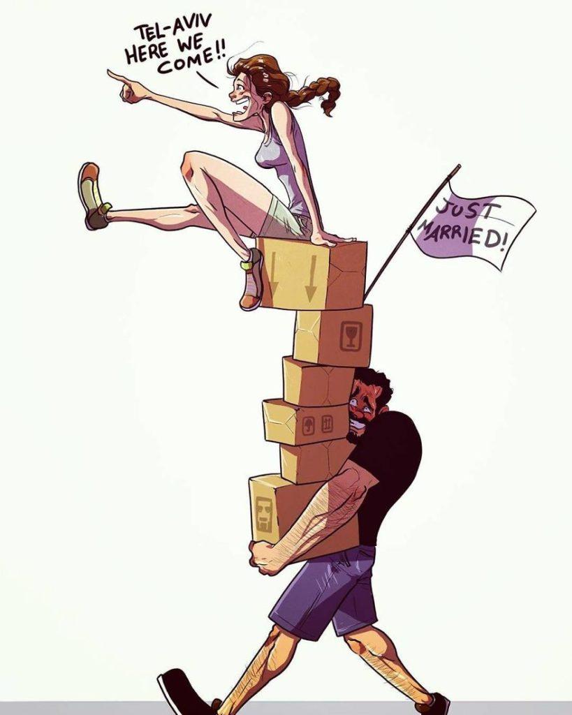 ilustracao de um casal 31