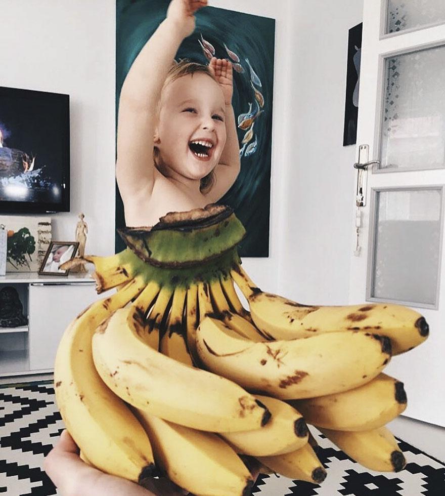 mae veste filha com legumes frutas ilusao de optica 12