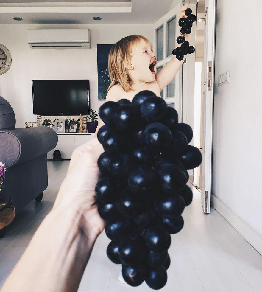 mae veste filha com legumes frutas ilusao de optica 18