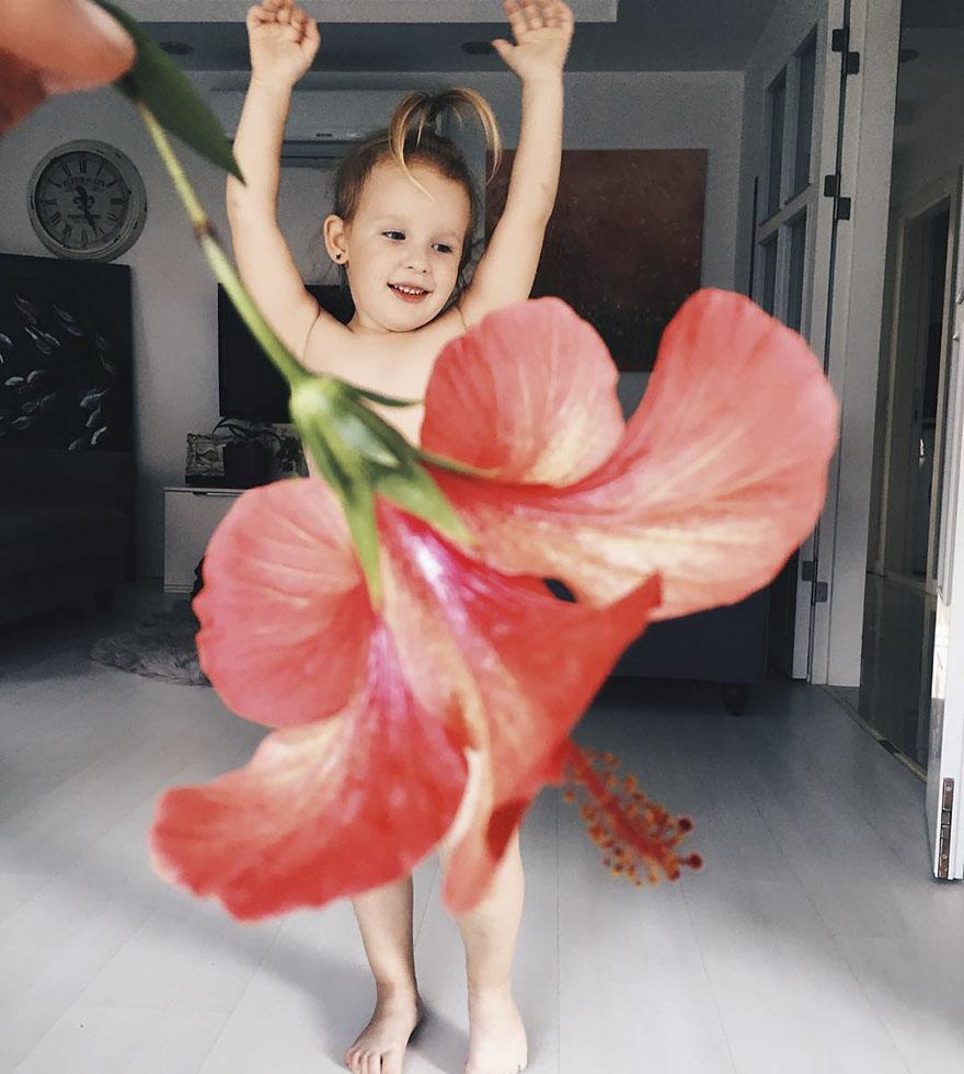 mae veste filha com legumes frutas ilusao de optica 30