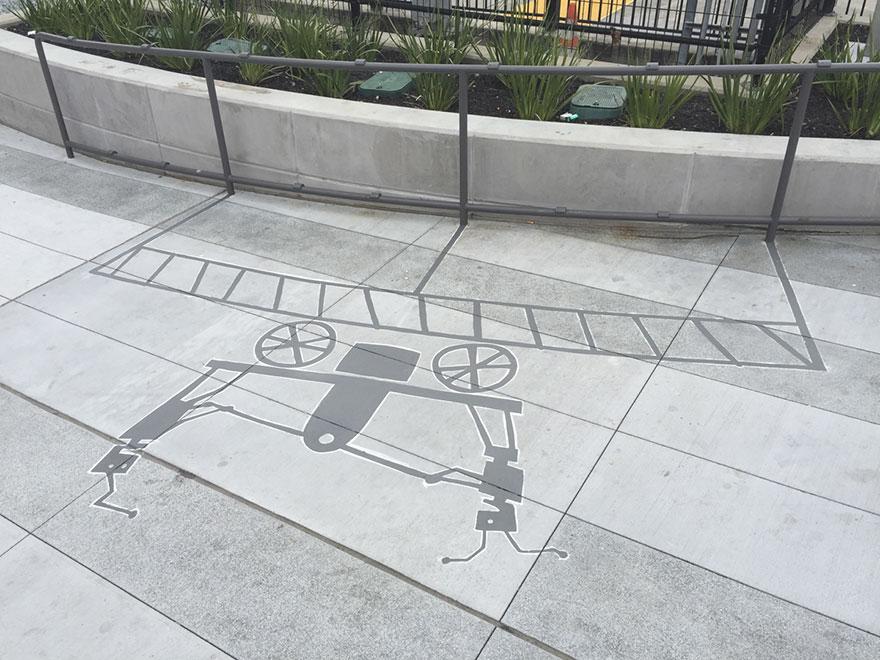 Artista pinta sombras falsas e confunde as pessoas 10