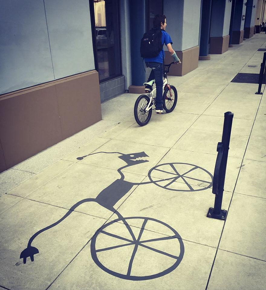 Artista pinta sombras falsas e confunde as pessoas 12