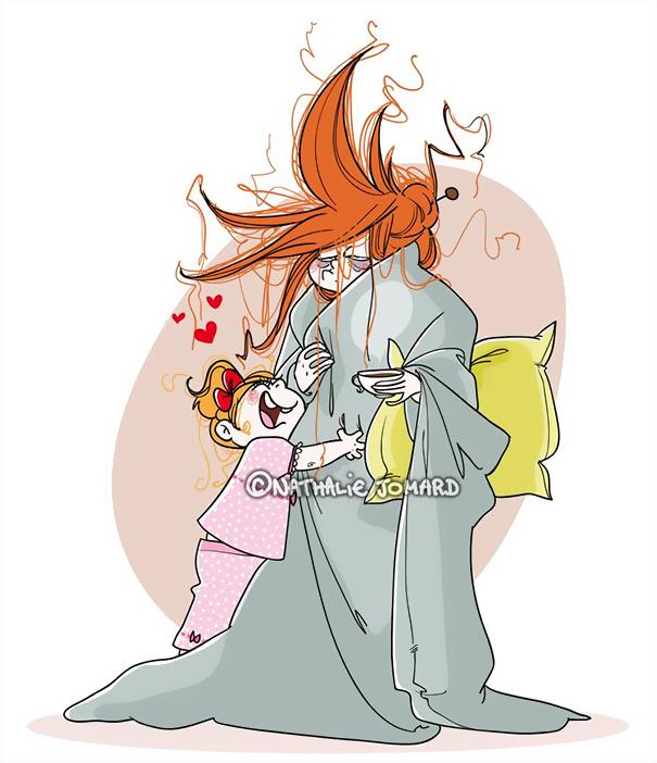 ilustrações que mostram o que realmente é ser mãe 06