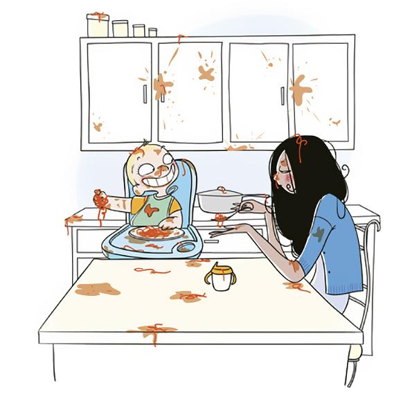 ilustrações que mostram o que realmente é ser mãe 08