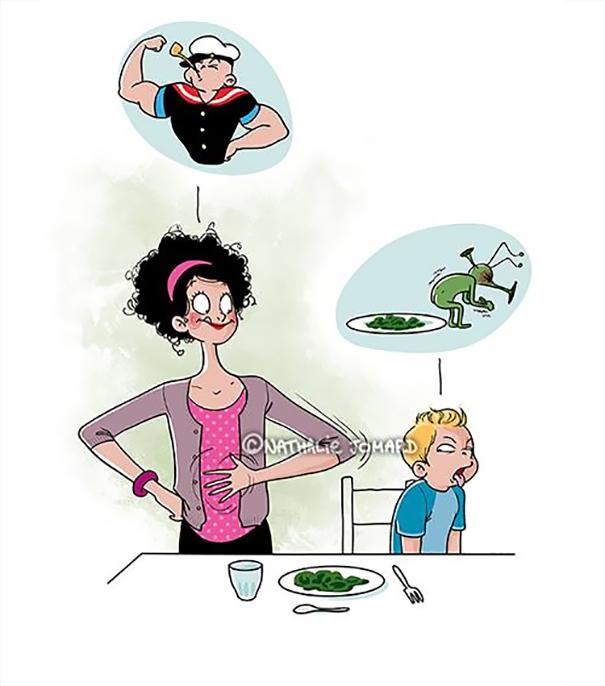 ilustrações que mostram o que realmente é ser mãe 16