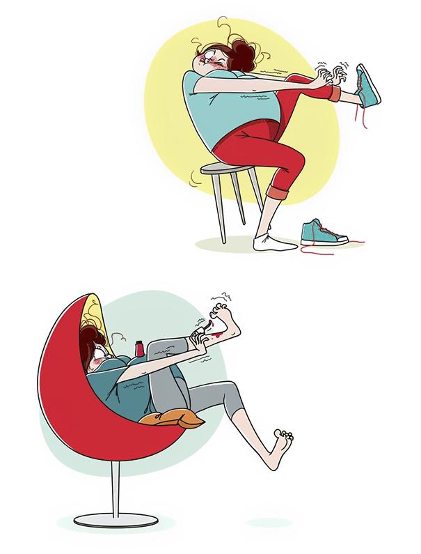 ilustrações que mostram o que realmente é ser mãe 17